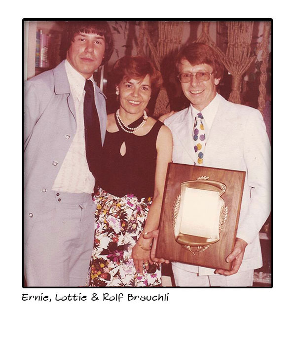 Rolf, Lottie and Ernie Brauchli